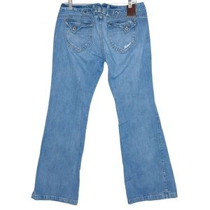 Lucky Brand Brass Knuckle Buckle Back Flare Jeans